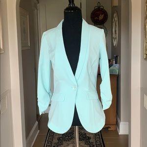 Charlotte Russe Light Blue Cinched Sleeve Blazer